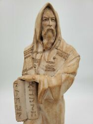 Vintage Large Austin Productions 1989 Moses Sculpture With Tablets