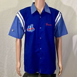 The Simpsons - Homer Pin Pals Men's Springfield Bowling Shirt Size Large