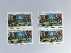 Us Stamp, Scott 2561. District Of Columbia Bicentennial. Two 2 Pairs