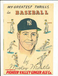 1957 Mickey Mantle My Greatest Thrills Mission Soda Comic Book