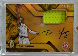 2018-19 Gold Standard Trae Young /25 Rpa/ Rc/rookie Patch Auto