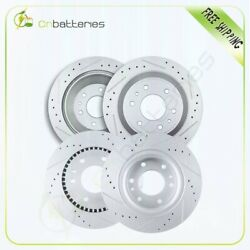 Front + Rear Drilled And Slotted Brake Rotors For Buick Rainier 2006 - 2007 4.2l