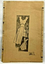 1950s Vintage Marian Martin Sewing Pattern 9311 Full Apron 2 Styles Size S 9293