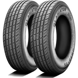 2 Tires Gladiator Qr25-ts St 255/85r16 Load F 12 Ply Trailer