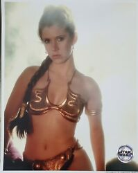 Star Wars Officially Licensed Photograph 8x10 Slave Leia / Carrie Fisher