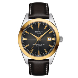 Brand New Tissot Men's Powermatic 80 Silicium Solid Gold Watch T9274074606101