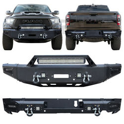Vijay Front And Rear Bumper For 2019-2021 Ram 1500 W/winch Plate And Sensor Hole