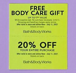 2 Bath And Body Works Coupons 1 20 Off And 1 Body Care Item