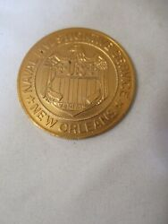Naval Investigative Service New Orleans Iacp 1981 Plastic Challenge Coin