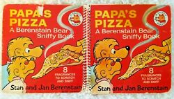 Papa's Pizza A Berenstain Bear Sniffy Book Rare 1978 Spiral Bound 1st Edition