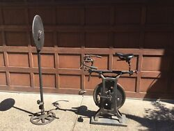 Vintage Cycle Trainer With Odometer  Narragansett Machine Co  👀