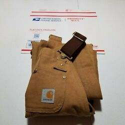 Excellent Condition Youth Bibs. Size 8 Small Brown