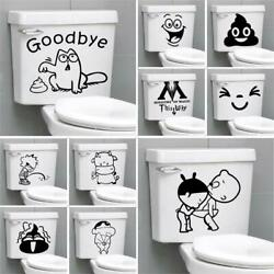 Funny Bathroom Toilet Sticker Home Decoration Accessories Removable For Sticker