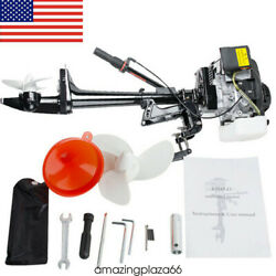4 Stroke 3.6 Hp Outboard Motor 55cc Boat Engine With Air Cooling System Warranty