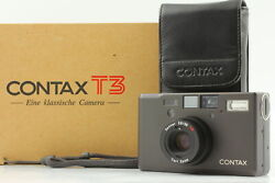 Double Teeth[mint In Box] Contax T3 D Black 35mm Point And Shoot Film Camera Japan