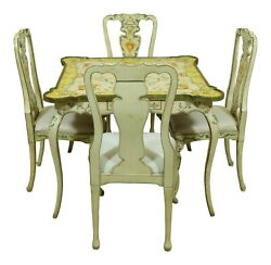 52272ec/73ec Ardley Hall 5 Piece Paint Decorated Table And Chair Set