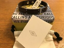 Fossil Mens Brown Leather, Stainless Steel Ornaments Bracelet Jf03002040 - New