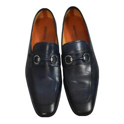 Magnanni Navy Rafa Ii Loafers Men Size 11m Made In Portugal