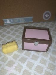 Pink Breyer Tack Box With Removable Tray And Bale Of Hay