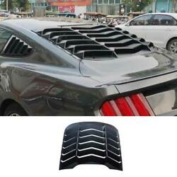 Sport Matte Black Rear Vent Window Louver Cover Trim For Ford Mustang 2015-2021