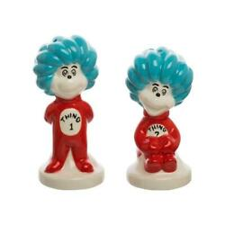 Dr. Seuss Thing 1 And 2 Sculpted Ceramic Salt And Pepper Set Cat In The Hat Shakers