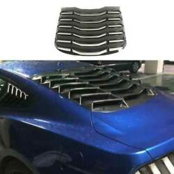 Mmd Gloss Black Rear Vent Window Louver Cover Trim For Ford Mustang 2015-2021