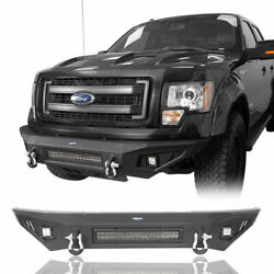 Front Bumper W/skid Plate, Under-engine Protectio Fit 09-14 Ford F150 Steel