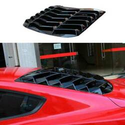 Sport Gloss Black Rear Vent Window Louver Cover Trim For Ford Mustang 2015-2021