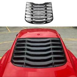 Mmd Carbon Fiber Rear Vent Window Louver Cover Trim For Ford Mustang 2015-2021