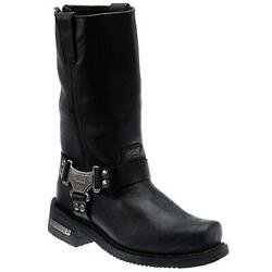 Milwaukee Motorcycle Clothing Company Mens Classic Harness Motorcycle Boots 0011