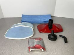 Haan Multi Si-70 Steam Head, Angled Nozzle And Brush Attachments + 3 Oem Mop Pads