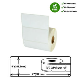 Direct Thermal Shipping Paper 750 Labels Per Roll Tape 4 X 2 For Zebra Lp-2442