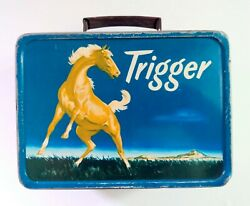 Vintage 1950's Trigger Metal Lunch Box, Product Of The American Thermos Co. Rare