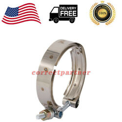 3903652 Exhaust Outlet V-band Clamp Fits For 1989-2002 Dodge Ram 2500 3500 5.9l
