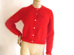 Women's Sweaters Designer Adrienne Vittadini Collection Red Angora Sweater Large