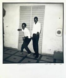 Malick Sidibandeacute - Surprise Party 2007 - Signed Title And Date