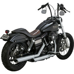 Harley Vance And Hines Twin Slash Slip On With Tüv Fxdb 07-16 Chrome Dyna Exhaust