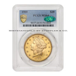 1900 20 Liberty Head Pcgs Ms64 Cac Certified Gold Double Eagle Choice Coin