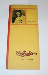1932 Baseball Chicago Cubs Spring Training Player Roster Schedule Rogers Hornsby