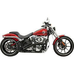 Harley Bassani - Exhaust System Radial Sweeper 86-17 Softail Fx Black 22 Fat