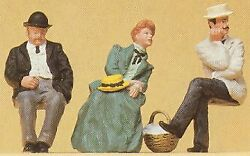 Preiser 45055 G Scale Seated Early 1900's Passengers Set 1 Set Of 3