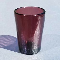 Brand New 1st Quality Plum 12 Oz Tumbler Fire And Light Recycled Glass
