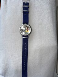 Rare Disney Mickey Mouse Through The Years Limited Release Large Face Dial Watch