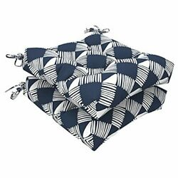 Outdoor Seat Cushion With Ties Fade-resistant Wicker Seat Cushions Knot Navy