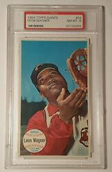 1964 Topps Giants 54 Leon Wagner Psa 8 Nm-mt Indians New Buy It Nows Daily