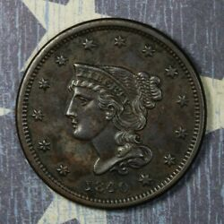 1840 Braided Hair Small Date Large Cent Collector Coin, Free Shipping