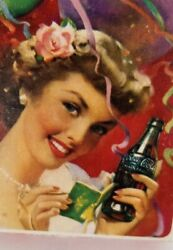 1951 Drink Coca Cola,girl At The Party Playing Cards, Sealed Deck