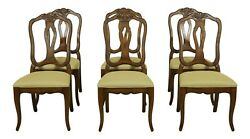 L52368ec Set Of 6 Ethan Allen Country French Dining Room Chairs