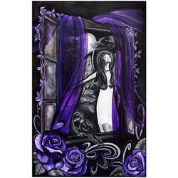Raven By Melody Smith Angel Girl Painting Moonlight Wall Art Poster Print Decor