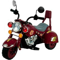 3 Wheel Trike Chopper Motorcycle For Kids - Battery Powered Ride On Toy